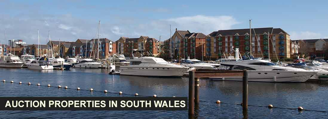Auction properties in south Wales, UK