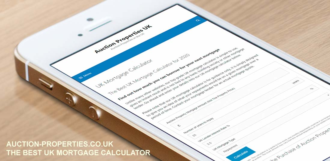 Image showing our UK mortgage calculator
