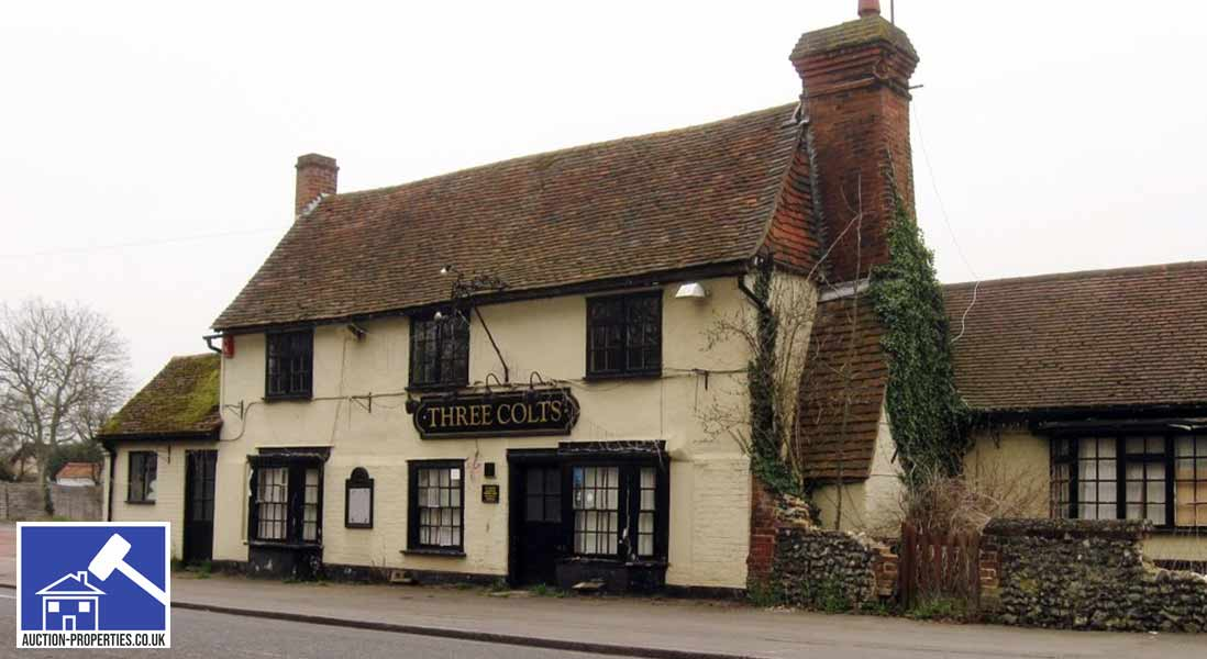 Photo of a former pub sold at auction in East Anglia.