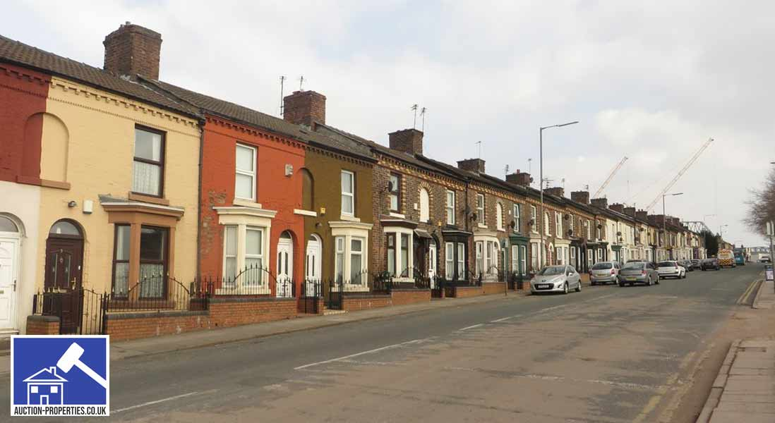 Photo of properties sold by auction in Liverpool, England